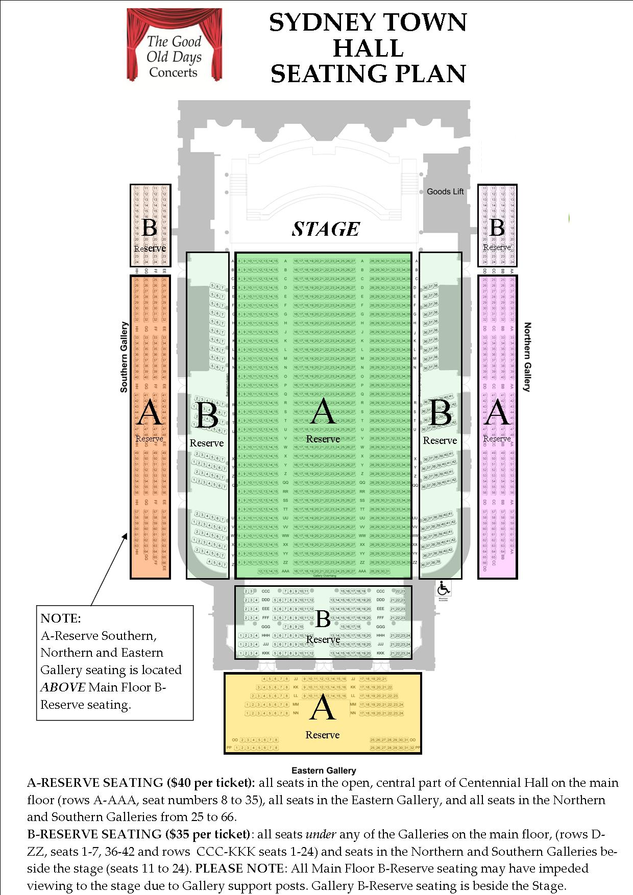 Fashion Show Seating Plan